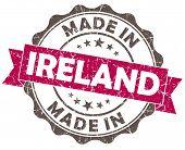 Made In Ireland Pink Grunge Seal