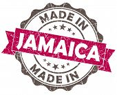 Made In Jamaica Pink Grunge Seal