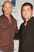 Ian Ziering and Bill Bakho at the Fenix Cosmetics 10 year Anniversary, Skybar, West Hollywood, CA. 09-22-09