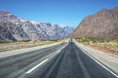 image of aconcagua  - National Road 7 passing by the Department of Las Heras in Mendoza Argentina - JPG