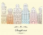Historical buildings. poster