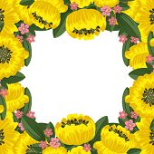 Yellow Floral Frame