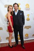 LOS ANGELES - JUN 26:  Virginia Collins, Jeff Ross at the 40th Saturn Awards at the The Castaways on