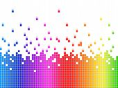Rainbow Soundwaves Background Shows Music Songs And Artists.