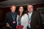 MOSCOW - JUNE, 28: Director Ken McMullen with friends. 36st Moscow International Film Festival. Clos