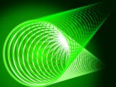 Green Coil Background Shows Shining And Tube.