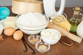 stock photo of cake-mixer  - Cottage cheese - JPG