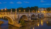 Sant'angelo Bridge In Rome, Italy