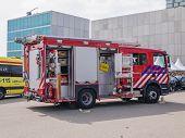 Dutch Fire Truck In Action