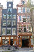 Coffee Shops In Red Light District At Amsterdam, Netherlands