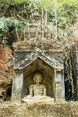picture of gautama buddha  - Old Buddha at Thai Temple In Chiangmai Thailand - JPG