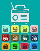 Retro Radio icon Illustration