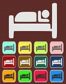 Icon, Button, Pictogram with Hotel