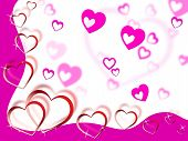 Hearts Background Shows Tenderness Affection And Dear.