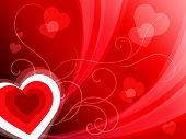 Hearts Background Shows Romantic And Passionate Wallpaper.