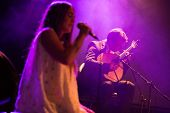 LOULE - JUNE 28: Gisela Joao a portuguese fado singer, performs on stage at festival med, a world mu