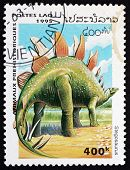 Postage Stamp Laos 1995 Stegosaurus, Dinosaur