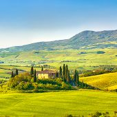 Tuscany landscape at morning, Italy