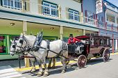 Horse drawn carriage on Mackinac Island in Northern Michigan