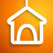 Applique doghouse icon frame. Vector illustration
