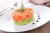 picture of tartar  - salmon tartar and avocado - JPG