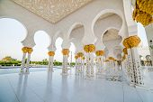 ABU DHABI, UAE - DECEMBER 18: Sheikh Zayed Grand Mosque, Abu Dhabi, UAE on December 18, 2013 in Abu