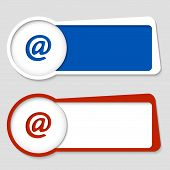 Set Of Two Frames For Insertion Text With Email Icon