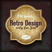 Paper sticker on grunge background. Retro design template