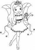 fairy winter coloring page