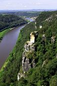 View From The Bastei On The River Elbe