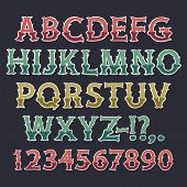 Halloween Colorful Bone Font