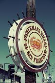 San Francisco, CA - MAY 11: Fisherman's Wharf pier on May 11, 2014 in San Francisco. It is one of th