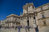 Syracuse Cathedral In Sicily, Italy