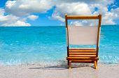Single Chair At The Beach