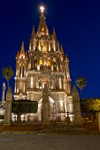 La Parroquia (Church of St. Michael the Archangel) in the historic city of San Miguel de Allende in Mexico