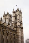 Westminster Abbey. Partial lens blur.