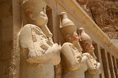 Statues at Karnak temple, Luxor