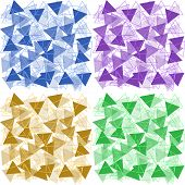 Set Of Backgrounds Colored Triangles