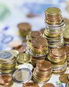 Euro Coins And Bills