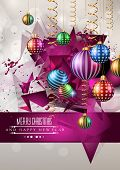 pic of christmas greetings  - 2015 New Year and Happy Christmas background for your flyers - JPG
