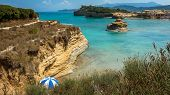 picture of sidari  - View of the bay of Sidari on Corfu Greece - JPG