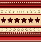 Stripy Background With Stars - In Red