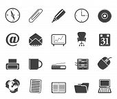 Silhouette Office tools icons