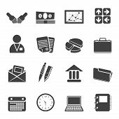 Silhouette Simple Business and Internet Icons