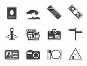 Silhouette Simple Travel and trip Icons