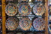 Turkish Traditional  Handpainted Pottery Plates