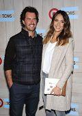 LOS ANGELES - NOV 12:  Blake Mycoskie & Jessica Alba arrives to the TOMS for Target Partnership Celebration on November 12, 2014 in Culver City, CA