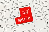 White Conceptual Keyboard - Sale (red Key)