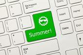 White Conceptual Keyboard - Summer (green Key)