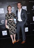 LOS ANGELES - OCT 08:  James Van Der Beek & Kimberly Van Der Beek arrives to the 5th Annual PSLA Autumn Party  on October 8, 2014 in Culver City, CA